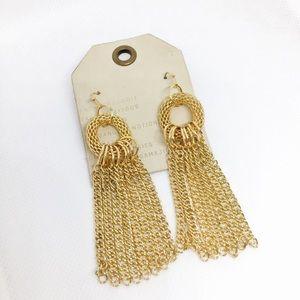 NWT Anthropologie hoop earrings in gold